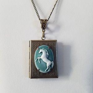 Unicorn Locket/Unicorn Necklace/Unicorn Jewelry